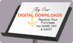Try our digital downloads!  Receive your order the same day and save!